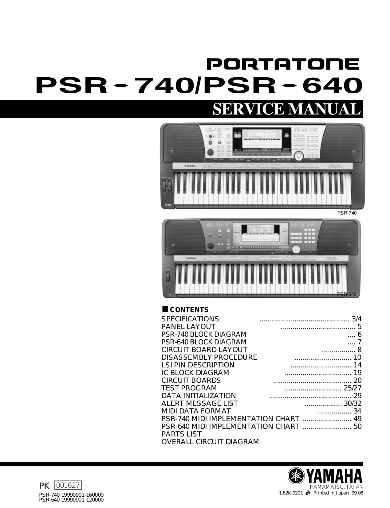 pdf for Yamaha Music Keyboard PSS-280 manual